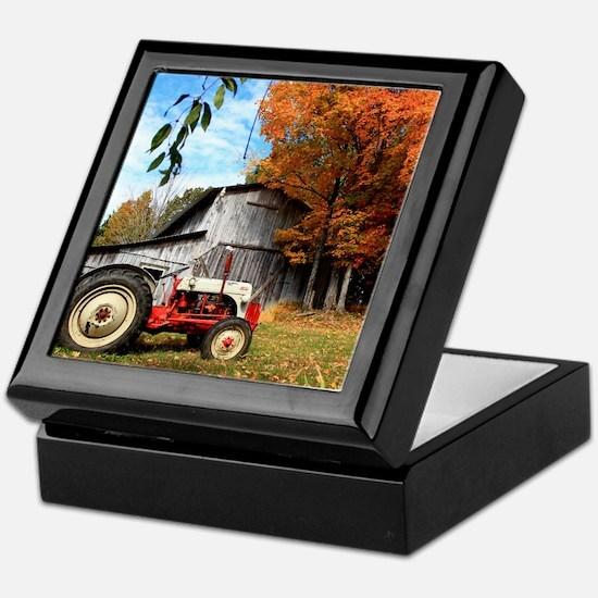 Tractor Keepsake Box