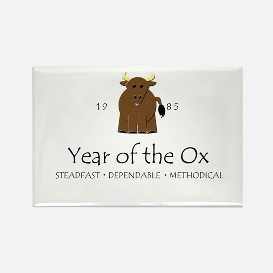 """""""Year of the Ox"""" [1985] Rectangle Magnet"""