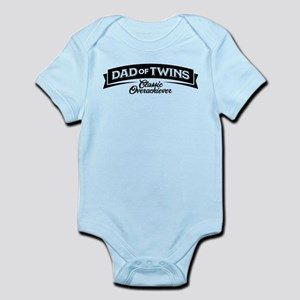 Dad of Twins Classic Overachiever Infant Bodysuit