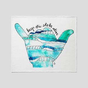 KTSA Shaka Wave Throw Blanket