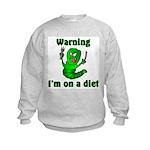 I'm on a Diet Caterpillar Kids Sweatshirt