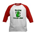 I'm on a Diet Caterpillar Kids Baseball Jersey