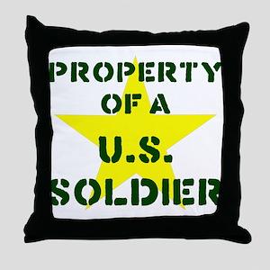 P of USS Throw Pillow