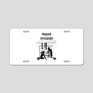 Happy Holidays Aluminum License Plate