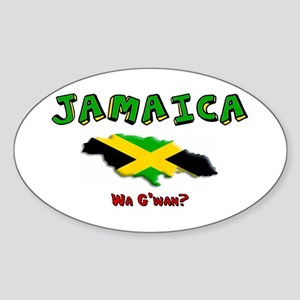 Jamaica Oval Sticker