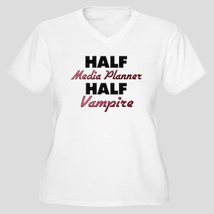 Half Media Planner Half Vampire Plus Size T-Shirt