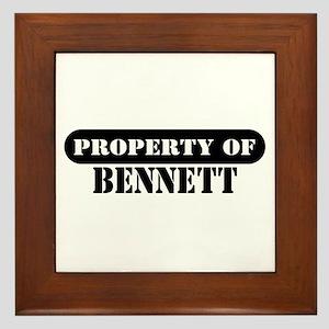 Property of Bennett Framed Tile