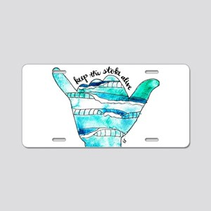 KTSA Shaka Wave Aluminum License Plate