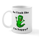 Do I Look Like I'm Happy Caterpillar Mug