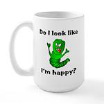 Do I Look Like I'm Happy Caterpillar Large Mug