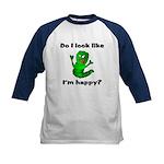 Do I Look Like I'm Happy Caterpillar Kids Basebal