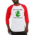 Do I Look Like I'm Happy Caterpillar Baseball Jer