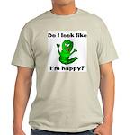Do I Look Like I'm Happy Caterpillar Ash Grey T-S