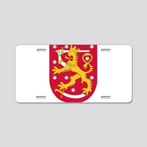 Coat of Arms of Finland - S Aluminum License Plate