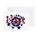 USA Stars Greeting Cards (Pk of 10)
