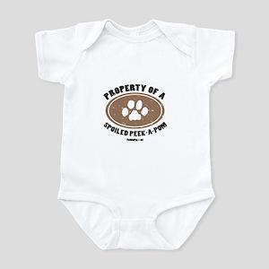 Peke-A-Pom dog Infant Bodysuit
