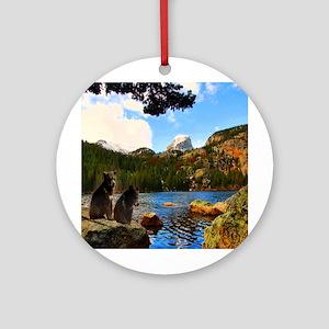 Bear Lake Ornament (Round)