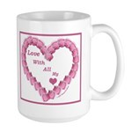 Memory Rose Heart Valentine Large Mug