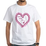 Memory Rose Heart Valentine White T-Shirt