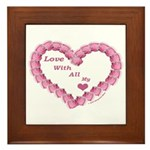 Memory Rose Heart Valentine Framed Tile