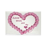 Memory Rose Heart Valentine Rectangle Magnet (100