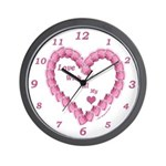 Memory Rose Heart Valentine Wall Clock