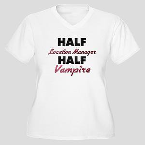 Half Location Manager Half Vampire Plus Size T-Shi