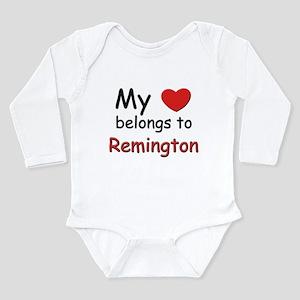 My heart belongs to remington Body Suit