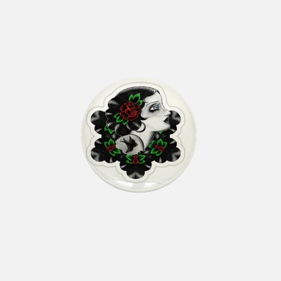 TRADITIONAL ROSE BEAUTY Mini Button