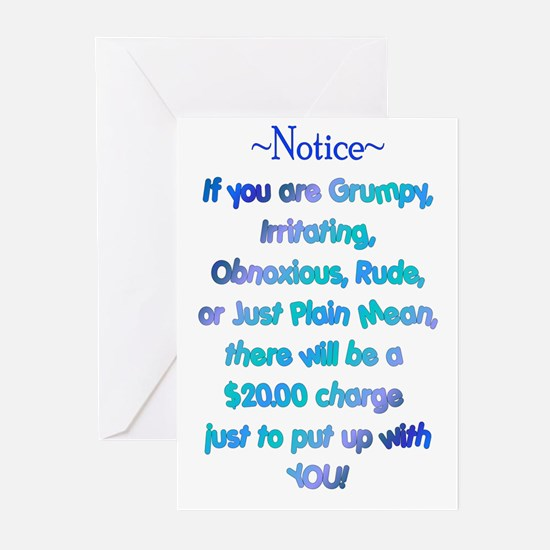 Notice - Blues Greeting Cards (Pk of 10)