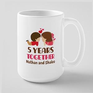 5th Anniversary 5 Years Together Mugs