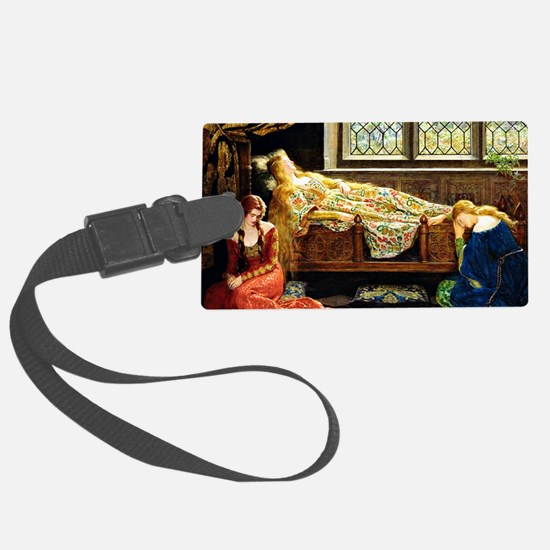 Sleeping Beauty, painting by Joh Large Luggage Tag