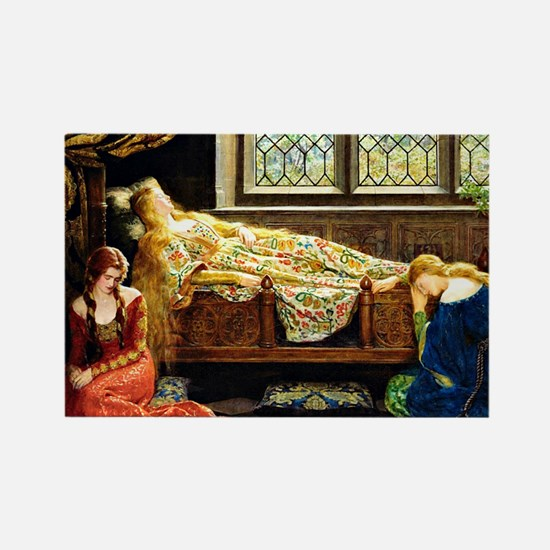 Sleeping Beauty, painting by John Rectangle Magnet