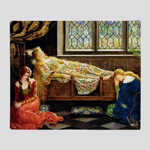 Sleeping Beauty, painting by John Ma Throw Blanket