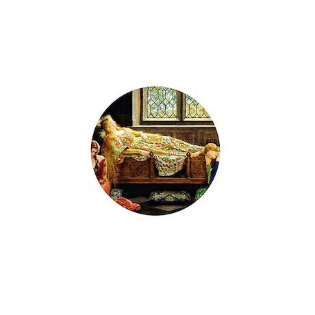 Sleeping Beauty, painting by John Male Mini Button