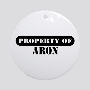 Property of Aron Ornament (Round)