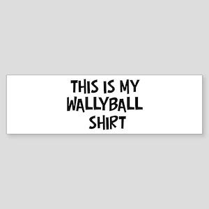 My Wallyball Bumper Sticker