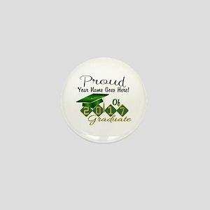 Proud 2017 Graduate Green Mini Button