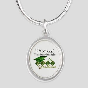 Proud 2017 Graduate Green Necklaces