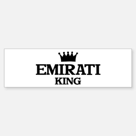 emirati King Bumper Bumper Bumper Sticker