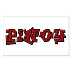 Urban Pinoy Rectangle Sticker