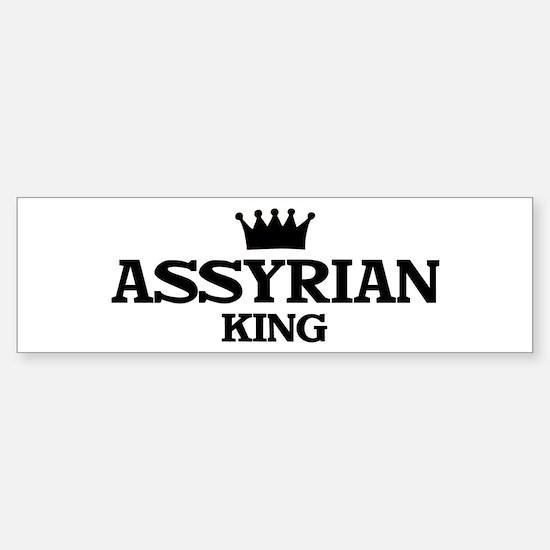 assyrian King Bumper Bumper Bumper Sticker