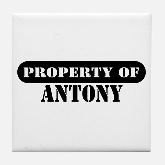 Property of Antony Tile Coaster