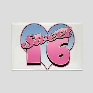 Sweet 16 Heart Rectangle Magnet