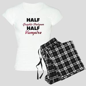 Half Graphic Designer Half Vampire Pajamas