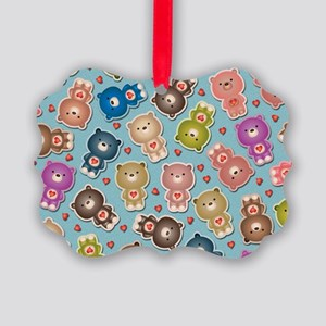 Colorful Teddy Bears Pattern Ornament