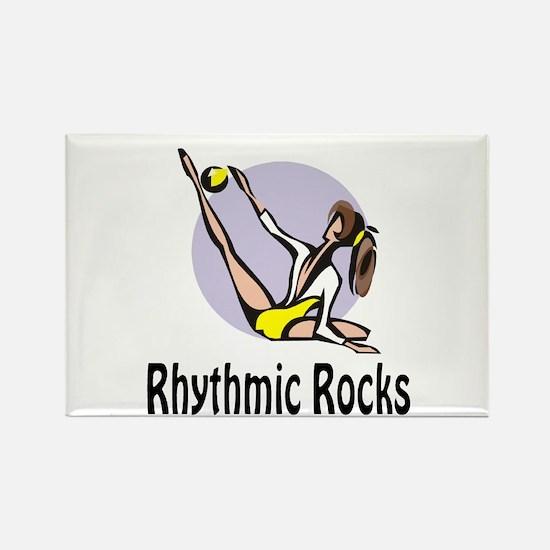 "RhythmicChick ""Rocks"" Rectangle Magnet"