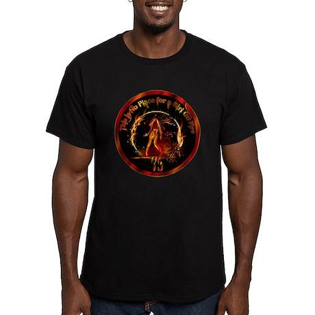 Girl on Fire Men's Fitted T-Shirt (dark)
