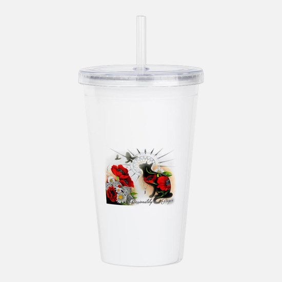 White Magic Acrylic Double-wall Tumbler