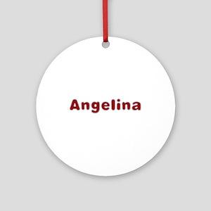 Angelina Santa Fur Round Ornament